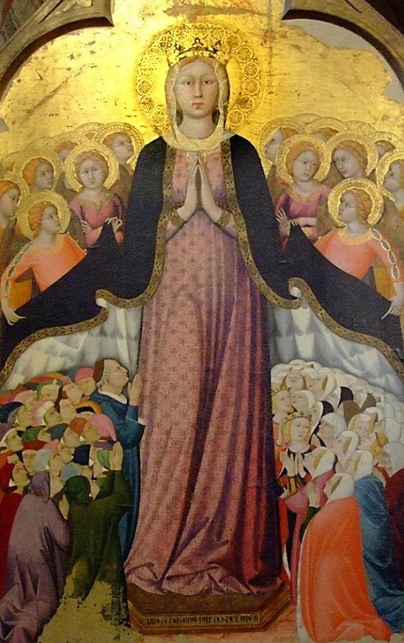 Madonna dei raccomandati, catedral de Orvieto, capela do Corporal. Lippo Memmi (1291 — 1356).