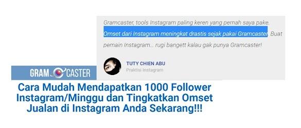 Omset dari Instagram meningkat drastis sejak pakai Gramcaster