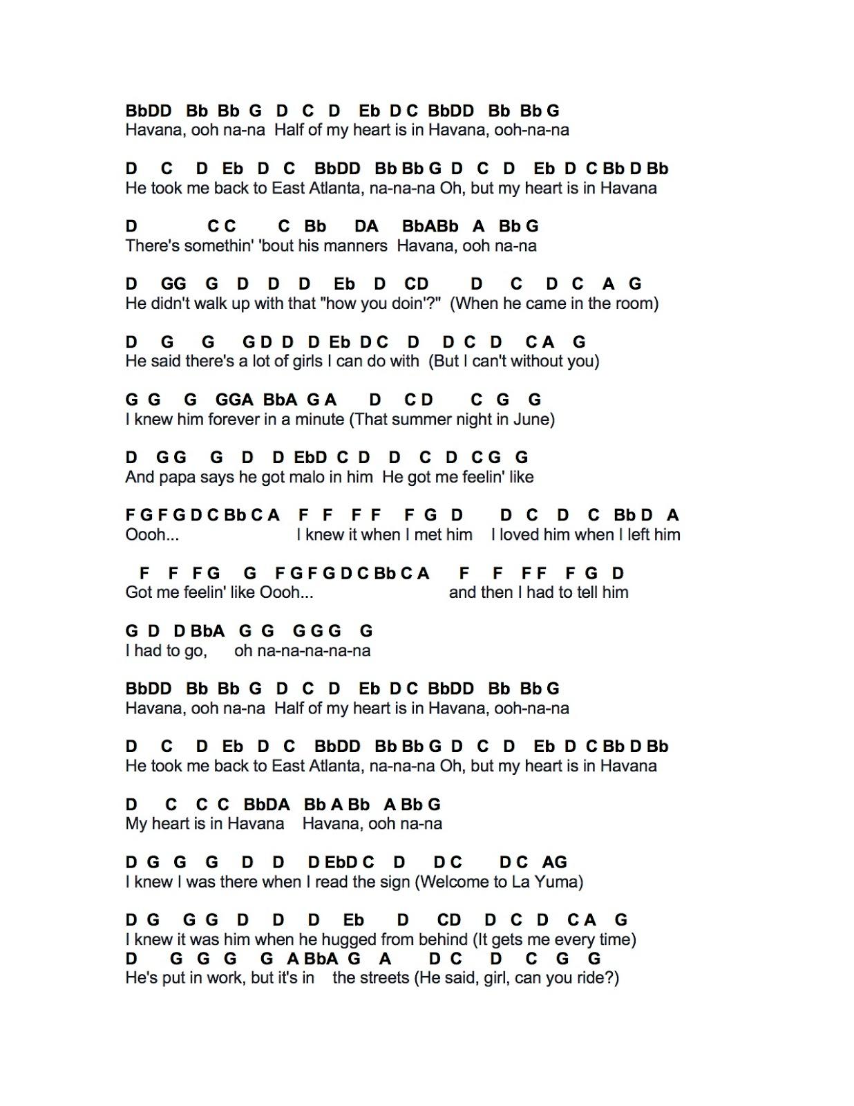 Flute sheet music havana havana hexwebz Gallery