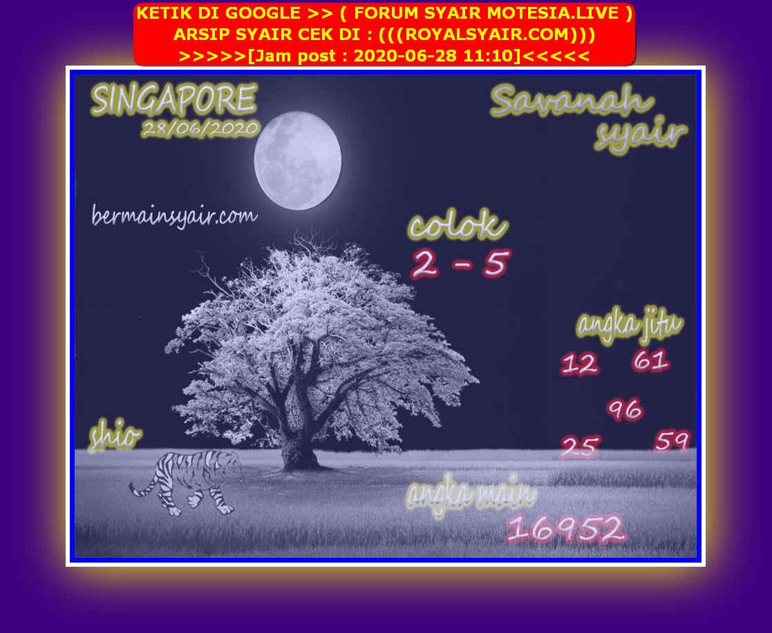 Kode syair Singapore Minggu 28 Juni 2020 149