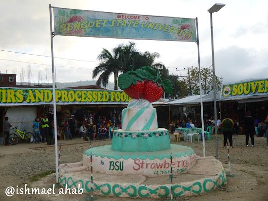 BSU welcome sign of Strawberry Farm in La Trinidad, Benguet