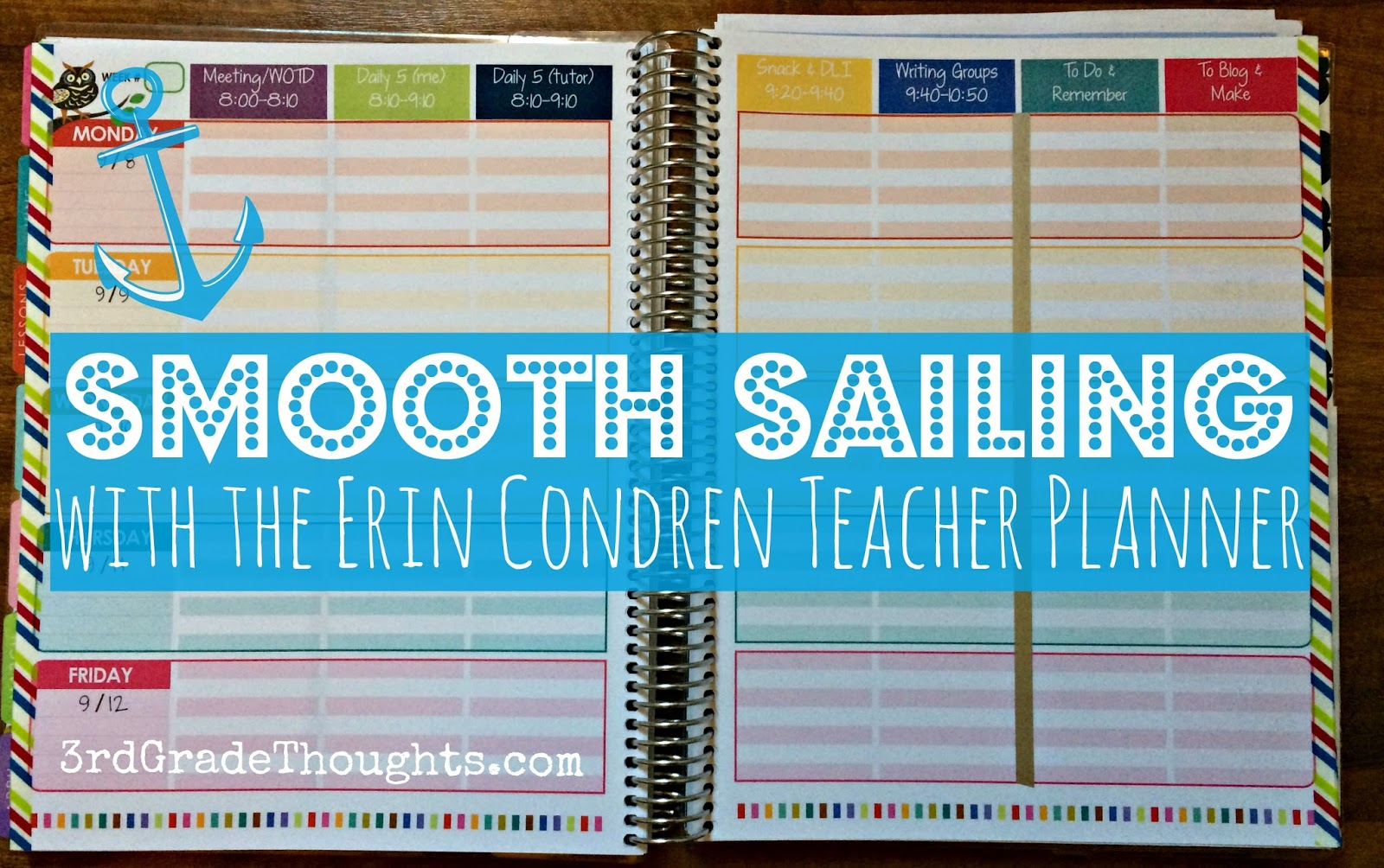 i am a huge fan of my erin condren teacher planner and cant wait to give you some tips and tricks to help make it work for you this school year
