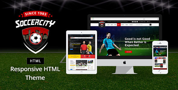 Download Soccer Sports - Soccer & Sports HTML Template