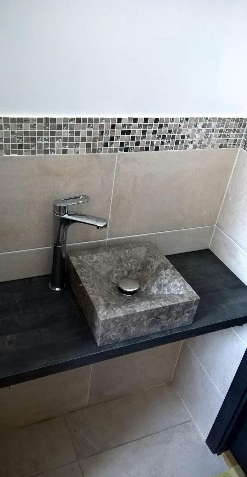 Plan Vasque En Pierre b-t-s: installation plan de travail + vasque en pierre +