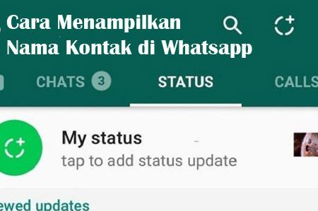 cara menampilkan kontak whatsapp di android
