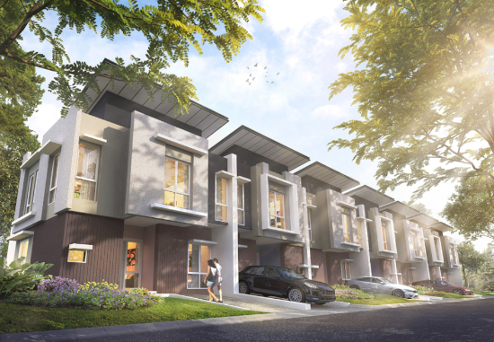 tampak depan rumah minimalis ukuran 7x12 meter 5 kamar tidur 2 lantai
