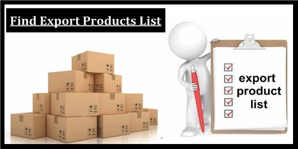 find Export Products list