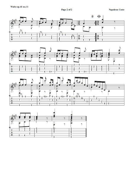 Guitarra Waltz Op.41 No.11