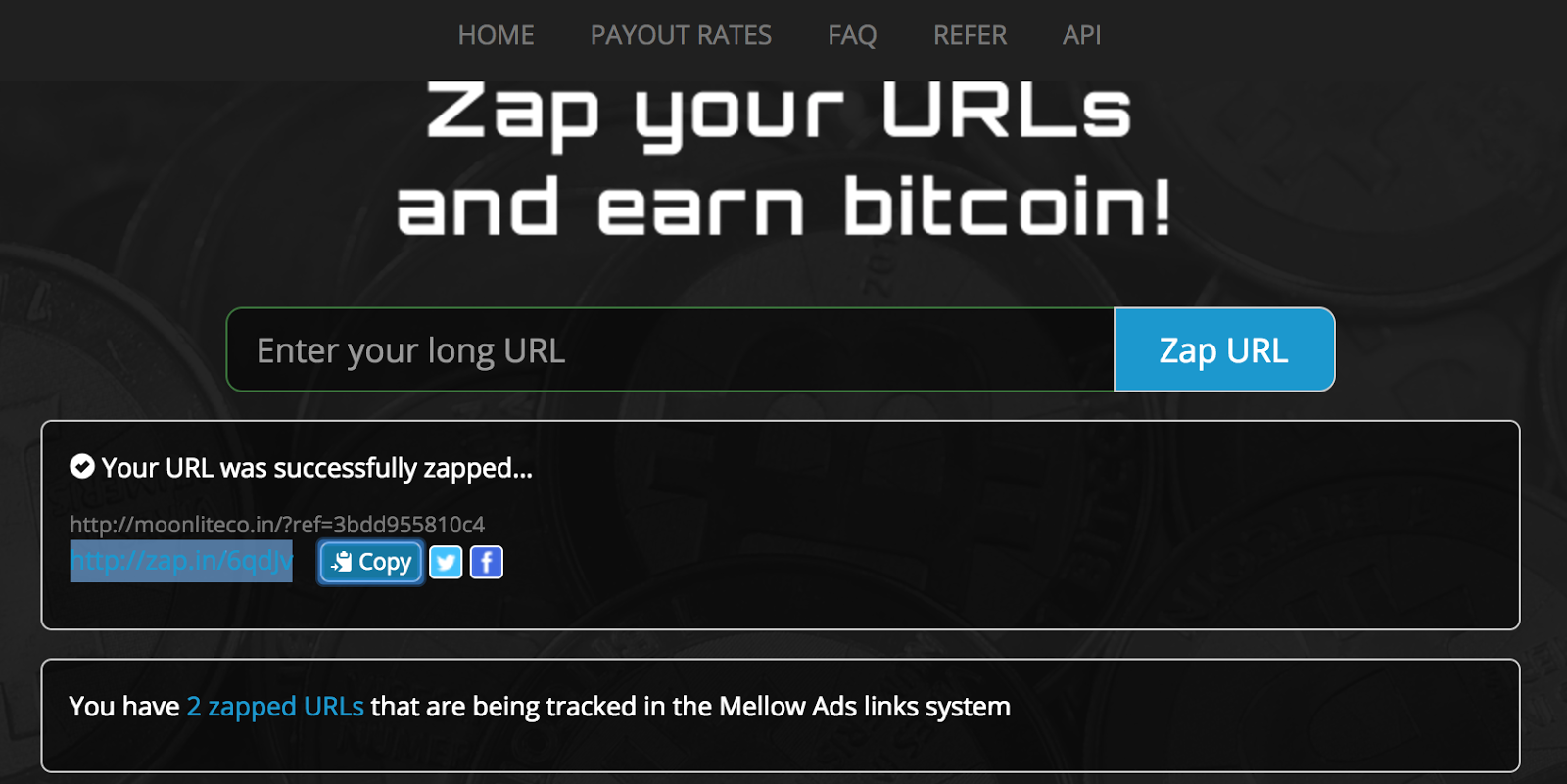 Earn Bitcoin with Zap.in (url link shortener) | Free CryptoCoins in ...