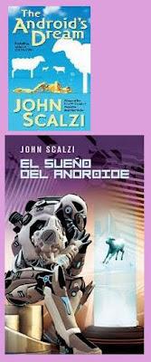 portadas de la novela de ciencia ficción humorística El sueño del androide, de John Scalzi