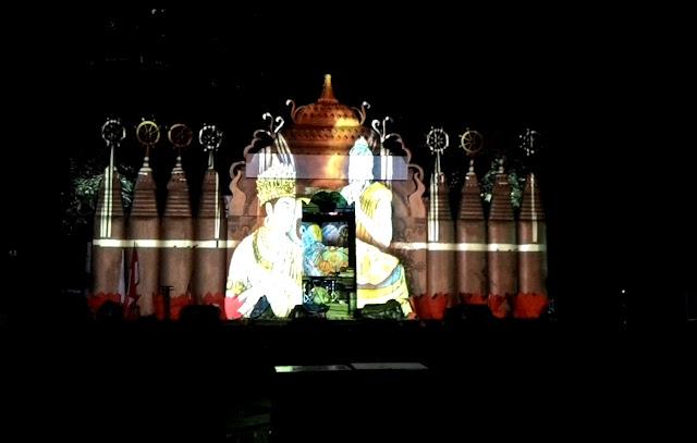 Video Mapping Waisak - Ancol Jakarta