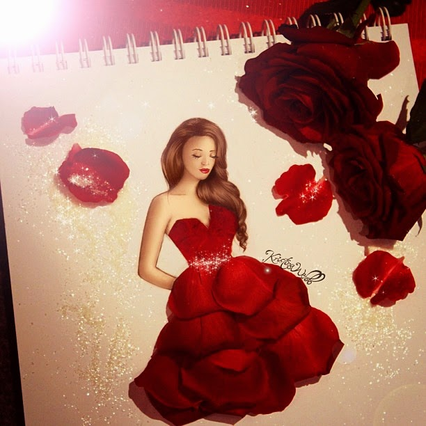 12-Rose-Dress-Kristina-Webb-Colour-me-Creative-Drawings-www-designstack-co