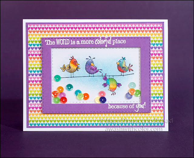 Shaker Card With Doodlebug Designs Paper and Sequins