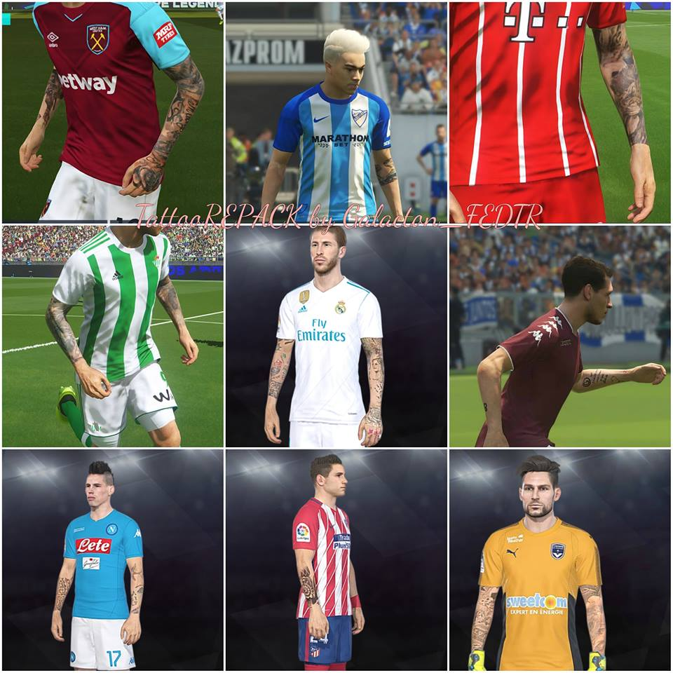 PES 2018 Tattoo Repack by Galacton_FEDTR