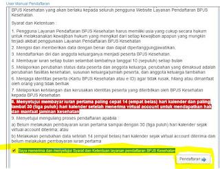 Halaman Pendaftaran Online BPJS