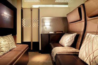 Etihad First Class Cabin
