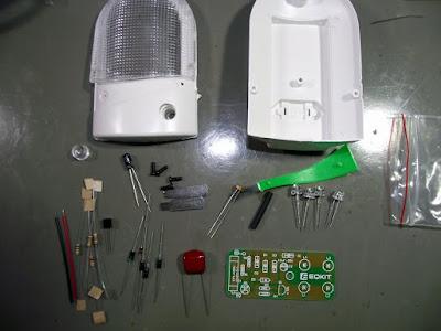 Luminária de LED componentes