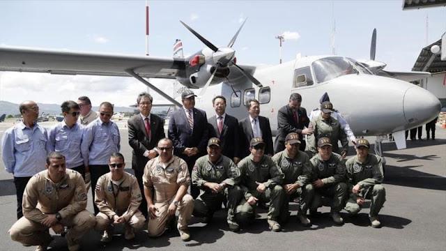 China dona dos aviones a Costa Rica para combatir narcotráfico