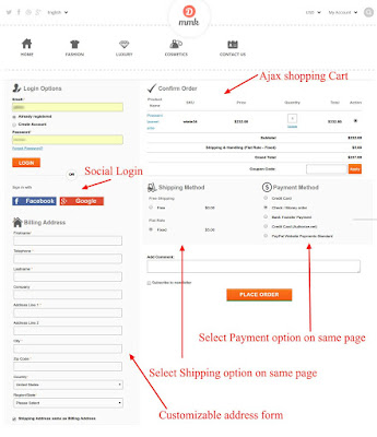 one page checkout extension