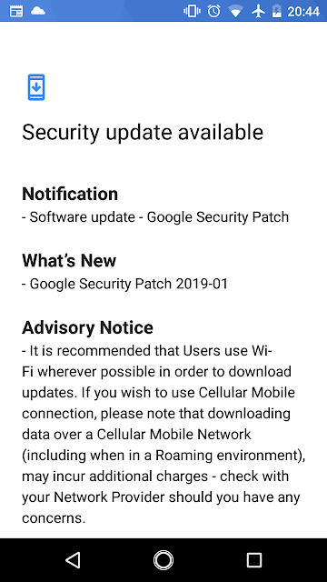 Nokia 2 receiving January 2019 Android Security update