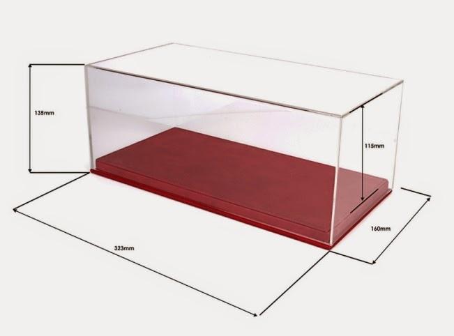 curbstone models bbr models 1 18 vitrine met lederen basis rood vet1804a zwart vet1804b. Black Bedroom Furniture Sets. Home Design Ideas