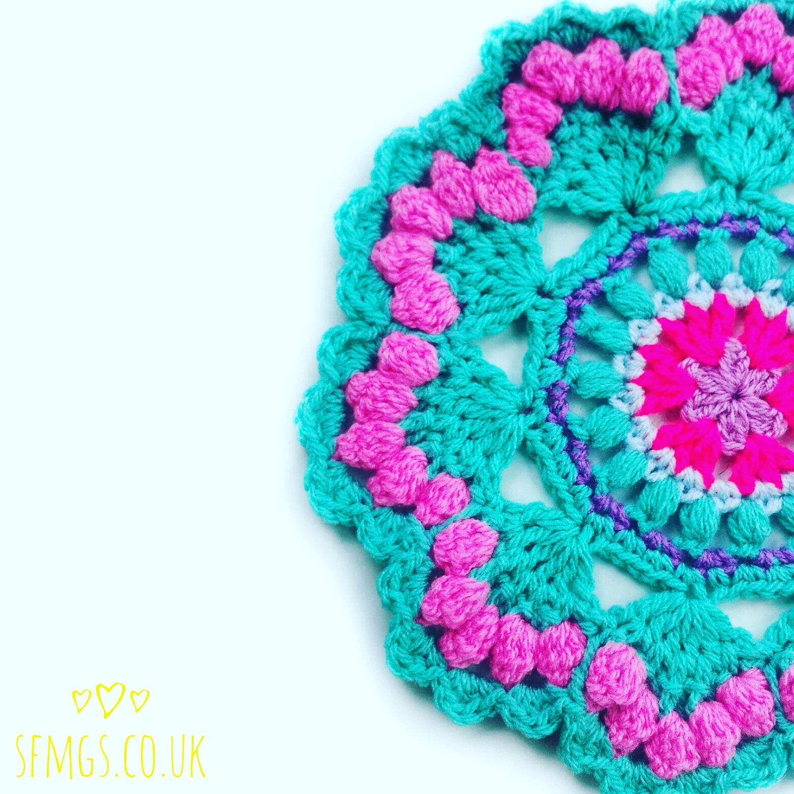 free crochet mandala pattern mermaid
