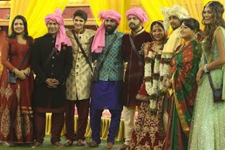 Dinesh Lal Yadav 'Nirahua', Amrapali Dubey and Bigg Boss 10 Contestants and at Bhojpuri Actress Monalisa & Vikrant Singh Wedding in Bigg Boss 10 House.