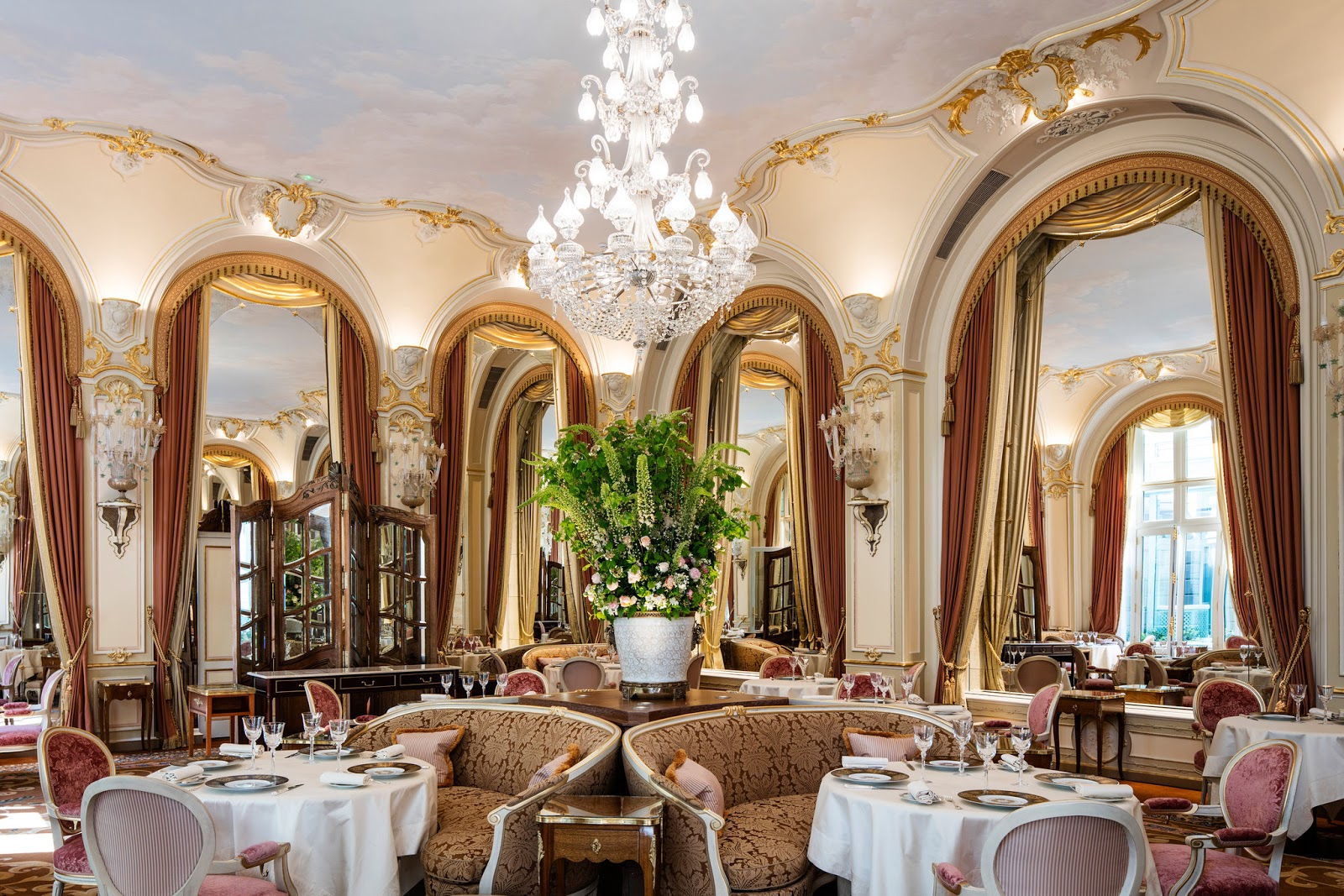 Dining area in renovated Ritz Paris