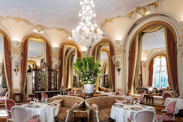 Dining area in renovated Ritz Paris