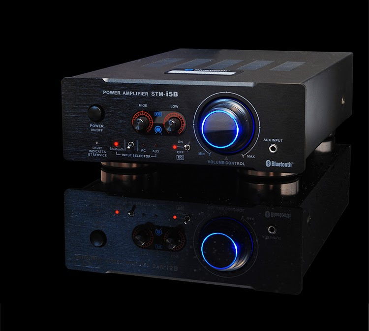 HIFI Bluetooth Music Amplifier NE5532 Preamp 2SA1941 and 2SC5198 Power Stage Bluetooth 2.1 EDR 2X100W Transistor Amp Support AUX