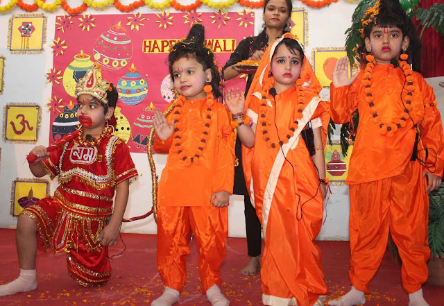 Deepawali festival celebrated at Shamrock Buds School