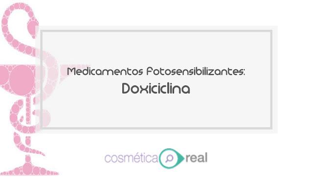 Medicamentos fotosensibilizantes: Doxiciclina