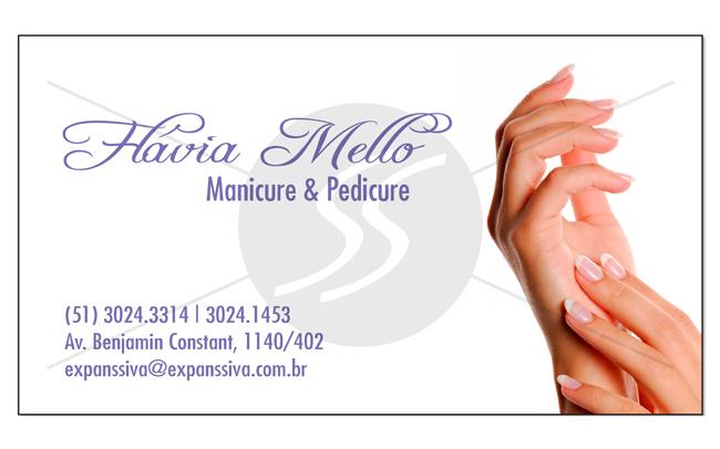 M1893 cartoes de visita manicure pedicure - Cartões de Visita para Manicure e Pedicure