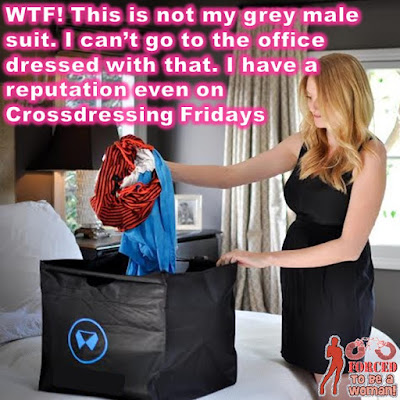 Casual/Crossdressing Fridays Sissy TG Caption - Hard TG Caps - Crossdressing and Sissy Tales and Captioned images