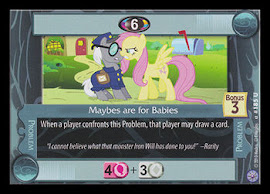 My Little Pony Maybes are for Babies Premiere CCG Card