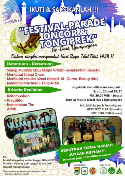 Event Batang | 24 Juni 2017 | Festival Parade Oncor & Tong Prek Se-Desa Ujungnegoro
