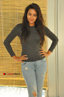 Actress Bhanu Tripathri Pos in Ripped Jeans at Iddari Madhya 18 Movie Pressmeet  0019.JPG