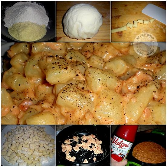 Ricetta Gnocchi Con I Fiocchi Di Patate.My Ricettarium Gnocchetti Con Fiocchi Di Patate Alla Crema Di Salmone