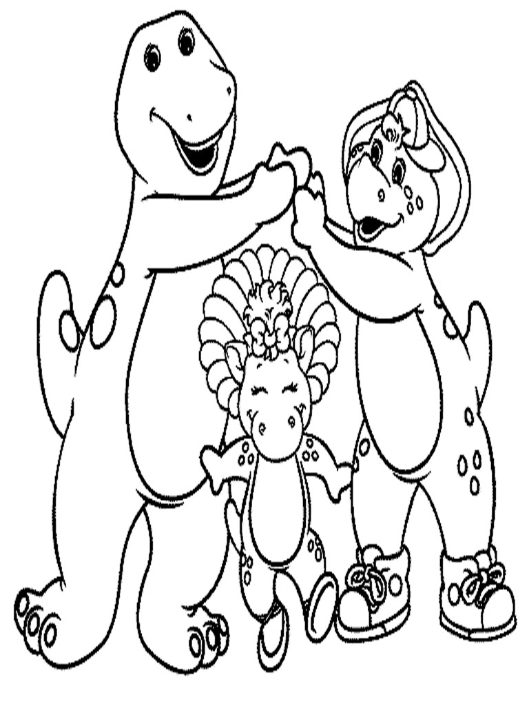 Printable Barney And Friends Coloring Pages