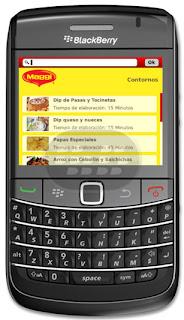 Recetas Magg Aplicacion para BlackBerry, pone en manos del usuario, un recetario completo que se divide el menú: carne roja, carne blanca, guarnición, sopas y cremas. También ofrece un temporizador y un convertidor de medidas. El usuario puede compartir todas estas recetas a través de redes sociales y correo electrónico. Compatibilidad BlackBerry OS 4.6 o Superior BlackBerry 85xx, 89xx, 9000, 91xx, 93xx, 95xx, 96xx, 97xx, 98xx, 99xx Descarga APPWORLD Fuente:blackberrygratuito