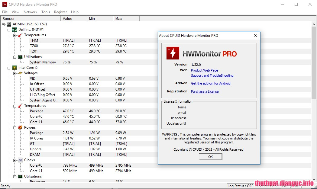 Download CPUID HWMonitor Pro 1.37 Full Cr@ck