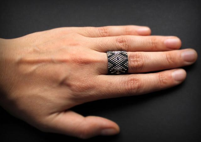 купить оригинальное кольцо бижутерия из бисера ручной работы бохо этно ру