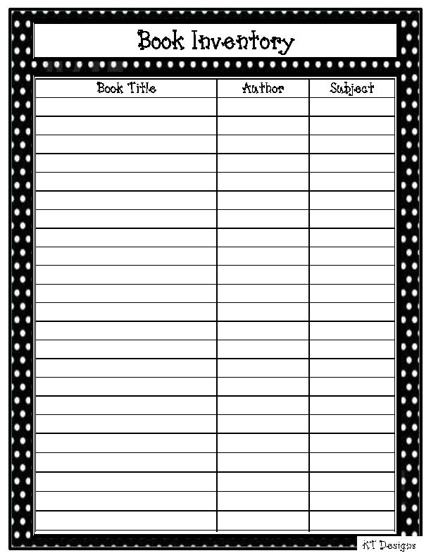 Questionnaire Template Xltx – Book Inventory Template