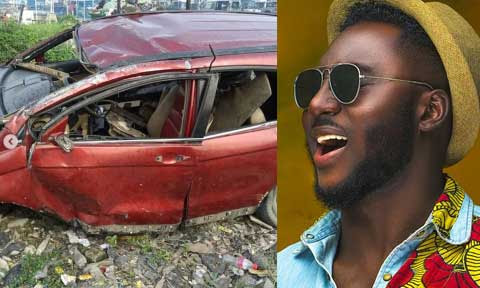Singer Djinee Involved In Car Accident, Rushed To Hospital (Pics)