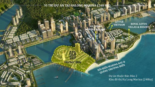 Vị trí quy hoạch dự án Harbor Bay Hạ Long