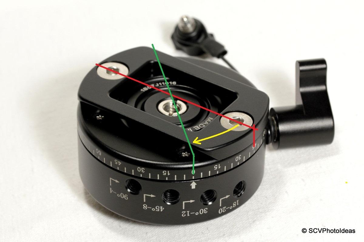 Sunwayfoto DDP-64MX bottom - pan base detail