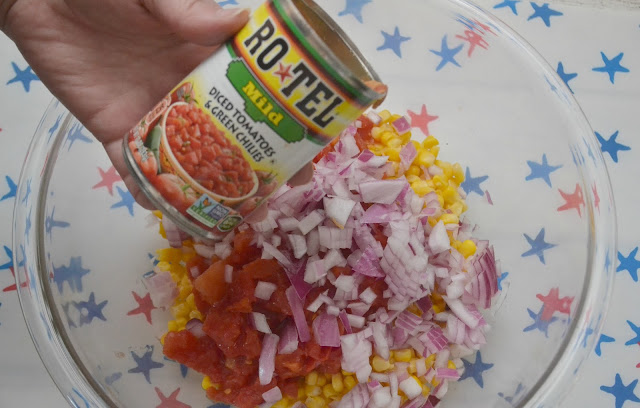 Cold Corn Salad, easy side dish recipes for BBQs, corn salad recipe, easy corn salad, easy cold corn salad, salad side dishes