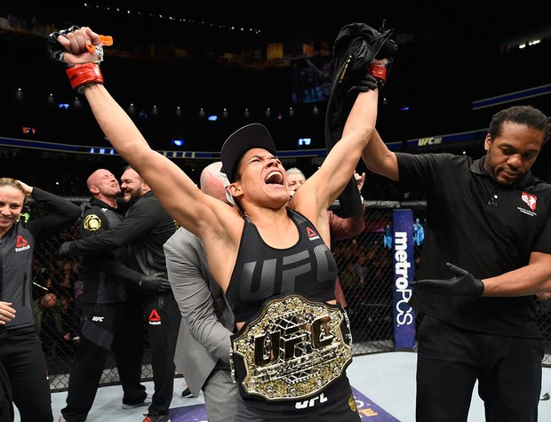 Joy for Amanda Nunes after she retains her title