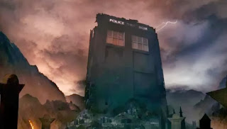 The TARDIS stands as The Doctor's tombstone in the Doctor Who season seven finale