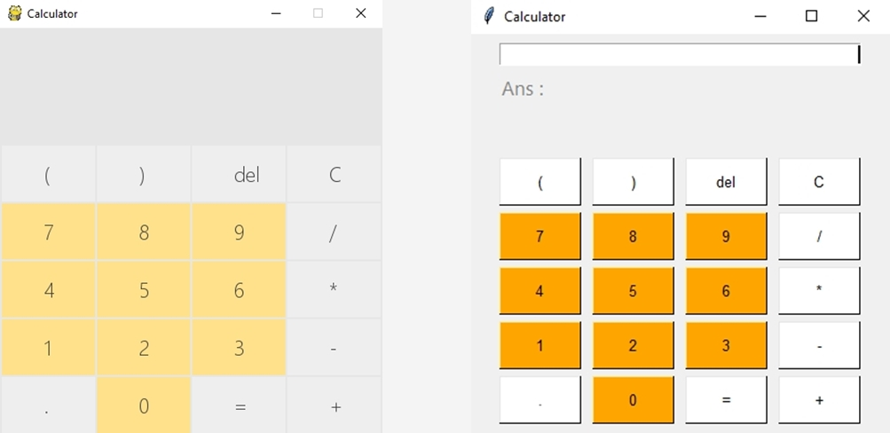 Calculator using Pygame vs PySimpleGUI